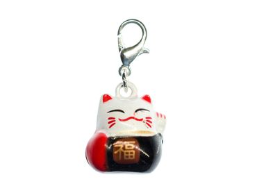 Cat Lucky Cat China Charm Bell Miniblings Maneki-Neko
