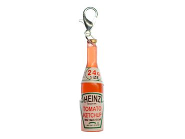 Ketchup Bottle Food Charm Zipper Pull Pendant For Bracelet  Wristlet Miniblings Sauce Fastbood – Bild 1