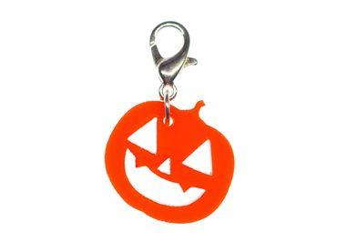Halloween Pumpkin Charm Bracelet Wristlet Dangle Miniblings Charms Acrylic Orange – Bild 2