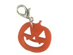 Halloween Pumpkin Charm Bracelet Wristlet Dangle Miniblings Charms Acrylic Orange