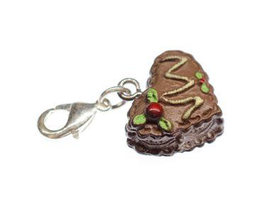 Gingerbread Heart Oktoberfest Charm Oktoberfest Biscuit Pendant Heart Cake Brown