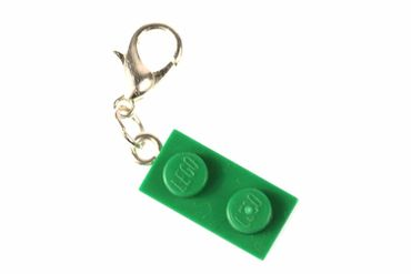 Lego 2 Platelets Plate Charm For Bracelet Wristlet Dangle Charms Miniblings Green