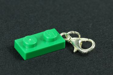 Lego 2 Platelets Plate Charm For Bracelet Wristlet Dangle Charms Miniblings Green – Bild 2