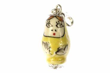 Matroschka Babuschka Russland Charm Anhänger Miniblings Russland Puppe gelb