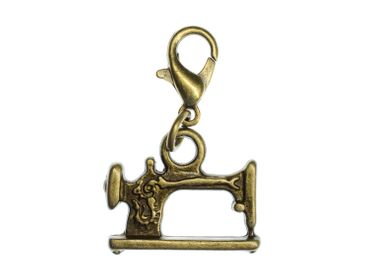 Sewing Machine Charm Hobby Miniblings Sewer Seamstress Bronze
