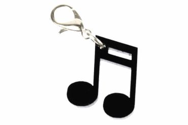 Note Semiquaver Sixteenth Part Music Conductor Dj Charm Black Miniblings Acrylic. – Bild 1