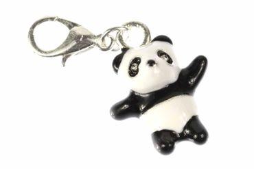 Panda Bär Zoo Charm Zipper Pull Anhänger Bettelanhänger Miniblings emailliert 3D – Bild 1