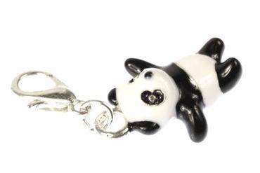Panda Bär Zoo Charm Zipper Pull Anhänger Bettelanhänger Miniblings emailliert 3D – Bild 2