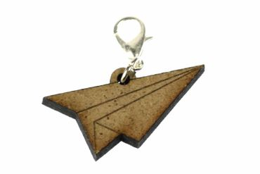 Paper Airplane Charm Aircraft Miniblings Plane Jet Aeroplane Origami Wood