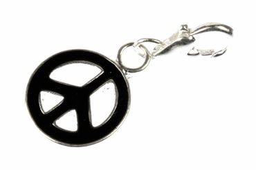 Peace Sign Charm For Bracelet Wristlet Dangle Miniblings Pax