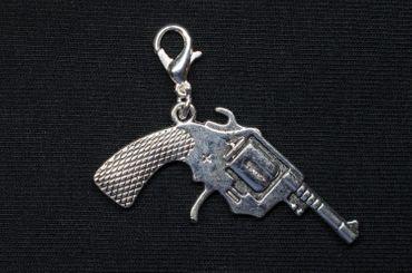 Pistole Charm Anhänger Bettelanhänger Revolver Colt Cowboy Western Miniblings XL