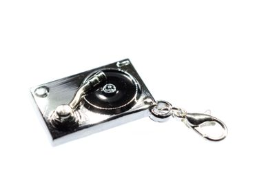 Turntable Record Player Turntables Dj Charm Disco Music Miniblings – Bild 3
