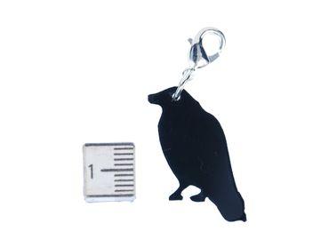 Crow Raven Corbie Charm Bracelet Wristlet Dangle Miniblings Charms Bird Acrylic – Bild 2