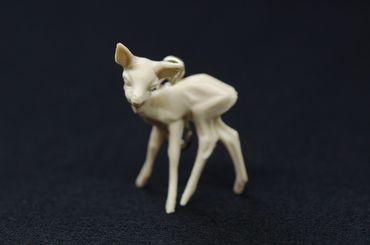 Reh Bambi Charm Anhänger Bettelarmband Miniblings Rehkitz Rehe Kitz weiß – Bild 3