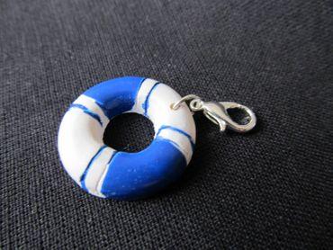 Livesaver Life Buoy Maritime Charm Ship Sailing Boat Miniblings Blue White – Bild 2