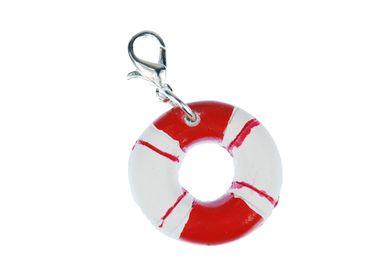 Livesaver Life Buoy Maritime Charm Ship Sailing Boat Miniblings Ring Red White – Bild 1