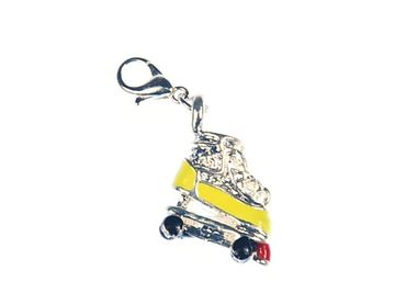 Roller Skate Rollerblade Charm Bracelet Wristlet Dangle Miniblings Skates Disco Yellow