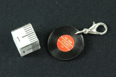 Record Lp Vinyl Charm Zipper Pull Pendant Miniblings Music Dj Disco Red – Bild 3