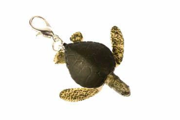 Turtle Charm Zipper Pull Pendant For Bracelet Wristlet Miniblings Rubber Green