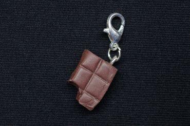 Chocolate Charm Zipper Pull Pendant Miniblings Chocolate Bar Sweets Bite – Bild 2