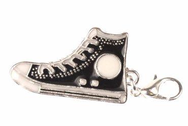 Sneakers Sneaker Charm For Bracelet Shoe Wristlet Miniblings Black