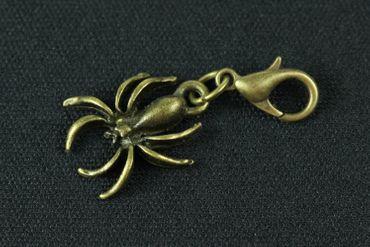 Spinne Charm Anhänger Bettelarmband Miniblings Charms Spinnen Spider Bronze – Bild 2