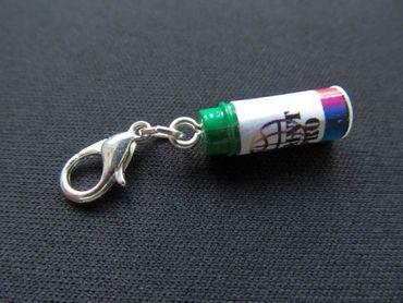 Spraydose Graffiti Farbe Charm Lack Lackdose Farbdose Farbe Anhänger Miniblings – Bild 2