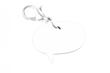 Balloon Speech Bubble Charm Bracelet Wristlet Miniblings Cartoon Comic Acrylic Round – Bild 2