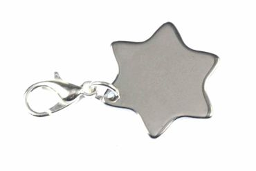 Star Charm For Bracelet Wristlet Dangle Miniblings Sky Christmas Star Of David – Bild 1