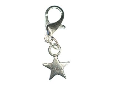 Star Charm For Bracelet Wristlet Dangle Miniblings Sky Christmas Silver 8mm – Bild 1