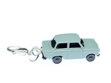 Trabbi Auto DDR Charm Trabant Trabi Anhänger Bettelanhänger Miniblings blau – Bild 1