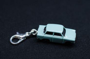 Trabbi Auto DDR Charm Trabant Trabi Anhänger Bettelanhänger Miniblings blau – Bild 2