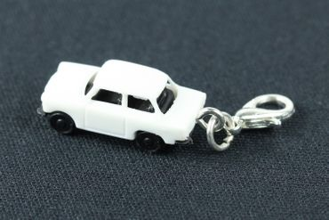 Trabant Car Trabi Trabant GDR East Germany Car Cult Retro Vintage GDR East Germany DDR Charm Pendant For Bracelet Wristlet Miniblings White