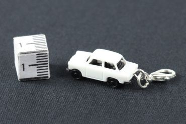 Trabant Car Trabi Trabant GDR East Germany Car Cult Retro Vintage GDR East Germany DDR Charm Pendant For Bracelet Wristlet Miniblings White – Bild 3