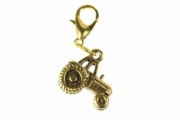 Tractor Charm Golden Bracelet Wristlet Dangle Miniblings Car Farm Farmer