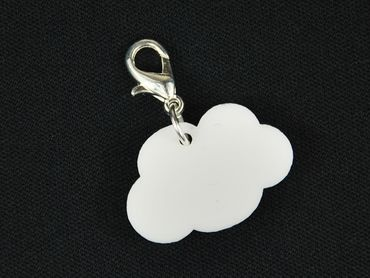 Cloud Charm Bracelet Wristlet Dangle Charms Miniblings Clouds Sky Acrylic – Bild 1