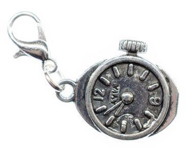 Uhr Uhrwerk Charm Anhänger Miniblings Bettelanhänger Bettelarmband Steampunk slb