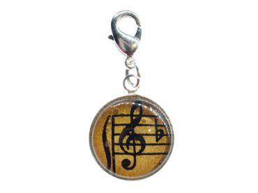 Note Violinschlüssel Cabochon Charm Anhänger Miniblings Bettelanhänger Noten slb – Bild 1