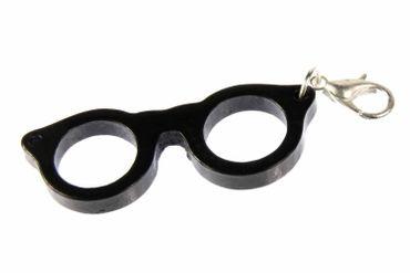 Brille Charm Brillencharm Bettelanhänger Miniblings Brillengestell Hipster Woody