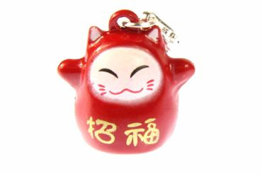 Calico Cat Maneki Neko Charm Miniblings Cat Manga Pendant Anime Asia Red – Bild 1