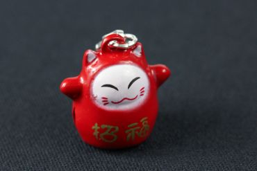 Calico Cat Maneki Neko Charm Miniblings Cat Manga Pendant Anime Asia Red – Bild 2