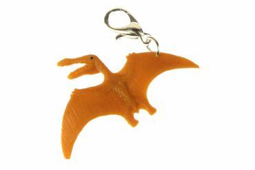 Dinosaurier Pteranodon Charm Dino Flieger Flugsaurier Miniblings Gummi cognac