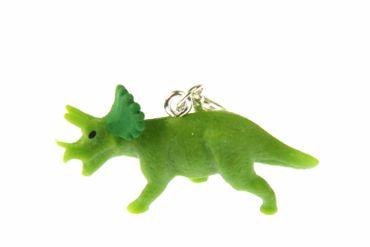 Dinosaurier Triceratops Charm Dino Miniblings Gummi hellgrün Hörner Nackenschild