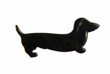 Enamel Brooch Dachshund Sausage Dog Miniblings Pin Black Enamelled – Bild 1