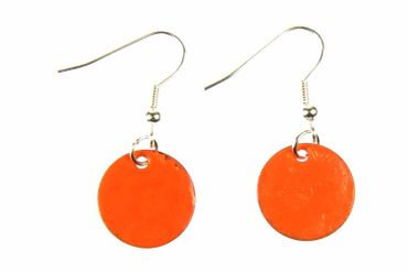 Enamel Discs Earrings Miniblings Pendant Enamelled Round Circle 16mm – Bild 3