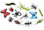 12x Insekten Figuren Aufstellfiguren Tierfiguren Miniblings Gummitiere Tier Set