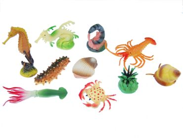 10X Marine Animals Figurines Figure Figures Figuriness Miniblings Toy Animal Ocean Sea Lobster – Bild 1