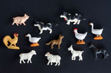 12X Farm Animals Animal Figure Figures Figuriness Figurines Pet Toy Miniblings Farm Cow Chicken – Bild 3