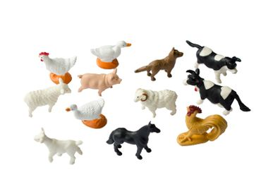 12X Farm Animals Animal Figure Figures Figuriness Figurines Pet Toy Miniblings Farm Cow Chicken – Bild 1