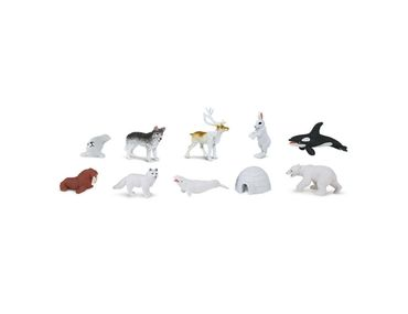 8X Alaska Set Igloo Polar Bear Arctic Pole Animals Miniblings Figure Figures Figuriness Figurines Toy